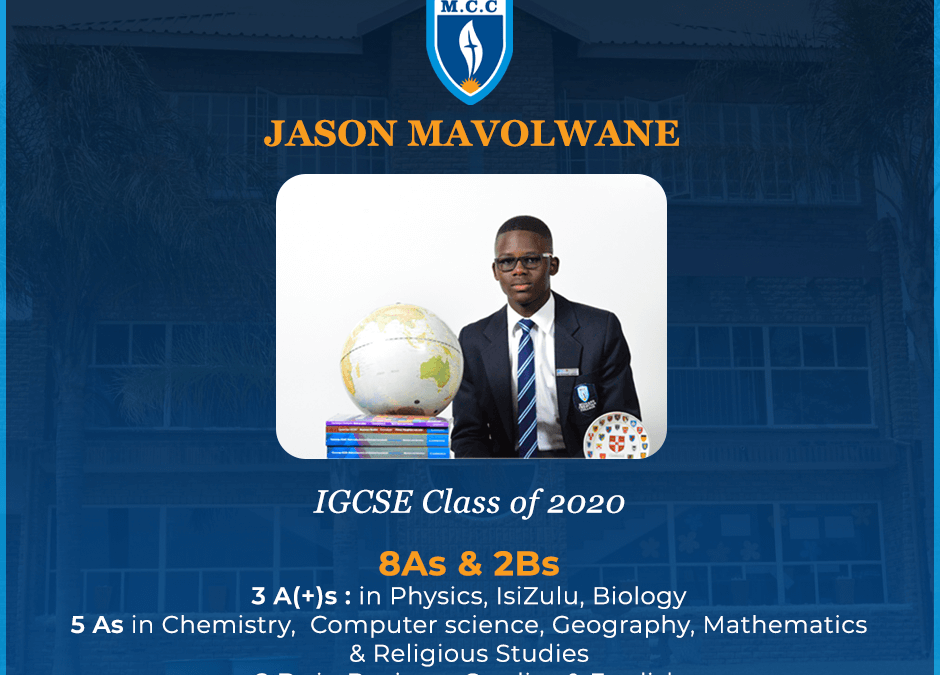 Jason Mavolwane excels in IGSCE class of 2020