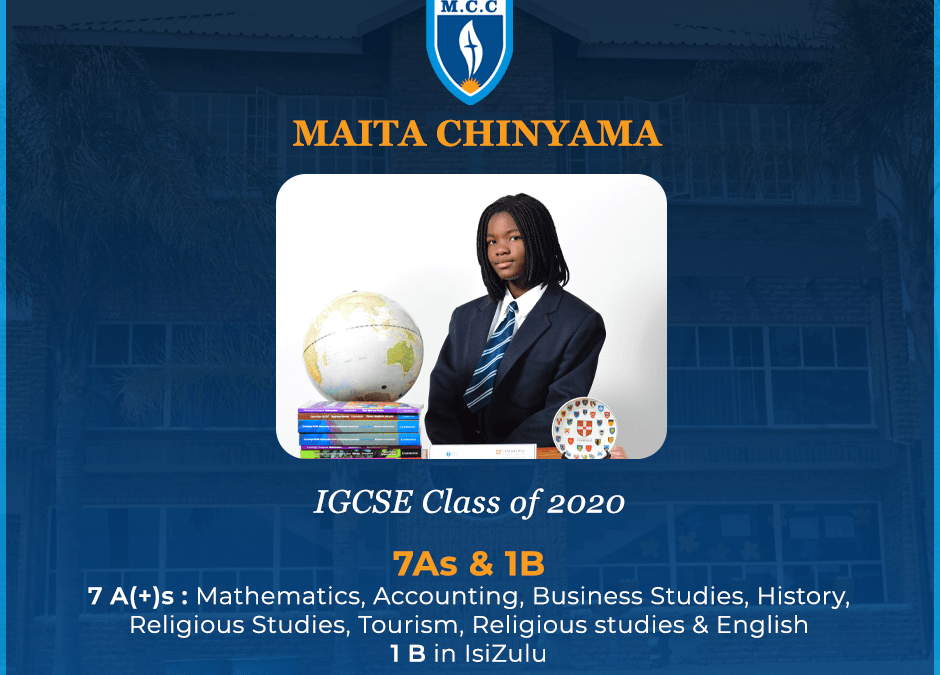 Maita Chinyama excels in IGSCE class of 2020