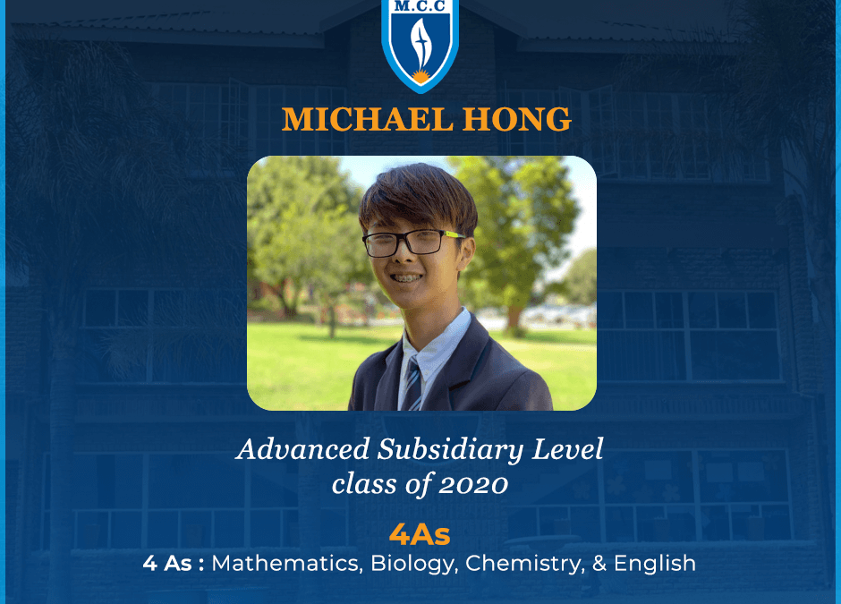 Michael Hong excels at AS Level – Class of 2020